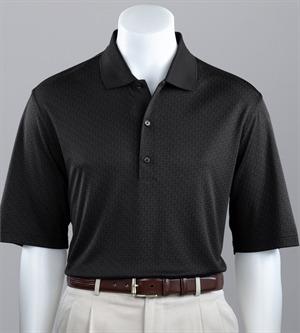 Men's Grid Jacquard Polo - Greg Norman Men's Grid Jacquard Polo