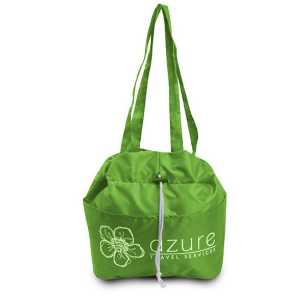 Printed Drawstring Lunch Tote