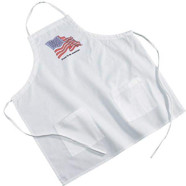 White Poly/Cotton Twill BBQ Apron
