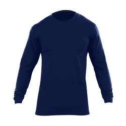 Utili-T - 2 Pack - Long Sleeve - The extra long  no roll collar Utili-T Crew Long Sleeve Shirts are made of 100% cotton providing lasting comfort & durability; functioning as an undershirt or uniform shirt. Accepts Embroidery & silk screening.