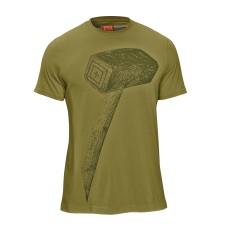 5.11 RECON Hammer T-Shirt - The 5.11 RECON Hammer Tee premium blanks are crafted with a plaited poly/cotton knit construction that speeds wicking and dry times  keeping you cool and comfortable. The athletic cut provides the ultimate body armor base layer performance as well as a great performing tee for training workouts. This lightweight tee significantly outperforms all cotton and Charged Cotton® products in wicking and drying lab metrics.
