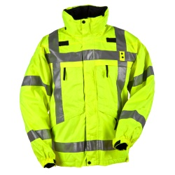 3-in-1 Reversible High-Visibility Parka - The 3-in-1 Reversible High-Vis Parka is our warmer alternative to the Hi-Visibility Reversible Jacket. Engineered with a bright yellow ANSI III rated waterproof shell the inside features a warm fleece liner keeping you safe and warm in hazardous  wintery conditions.