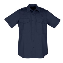 "Twill PDU Shirt - B Class - Women's - Short Sleeve (REGULAR) - 5.11 Women's Class B PDU Shirt is 5.78-oz twill  Teflon"" treated 65% polyester/35% cotton and remains as professional as the Class A PDU Shirts. Common features include mic cord pass through  permanent creases  epaulettes and badge tab. The Class B PDU Shirt also features a hidden documents pocket."