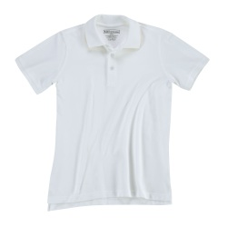 Professional Polo - Women's - Short Sleeve - Constructed with specially treated 6.8 oz 100% cotton pique to prevent fading  wrinkling and shrinking. The Professional Women's Polo offers dual pen pockets on sleeve and no roll collar with flexible collar stays.