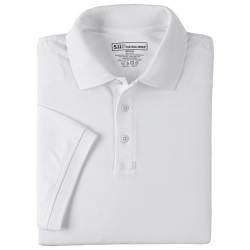 Tactical Jersey Polo - Short Sleeve - 5.11 Men's S/S Tactical Polo is made from 6 oz. 100% cotton Jersey for comfort and softness. Also equipped with our signature features such as a No Roll collar  reinforced dual pen pockets  mic clips at center placket & shoulders and moisture wicking capabilities.