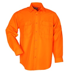 High-Visibility Performance Shirt - Designed for Search and Rescue operations  the Hi Vis Performance Shirt is made of lightweight 3.65 oz.  highly breathable polyester with a 40 UPF rating. The triple stitch construction and reinforced elbow patches provide maximum durability for rugged outdoor activity.