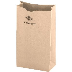 Heavy Duty Nail/Coin Bags - Flexo Imprint - NATURAL KRAFT SOS - SQUARE OPEN SACK