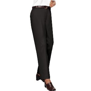 Ladies Flat Front Twill Pant - Ladies flat front twill pant.