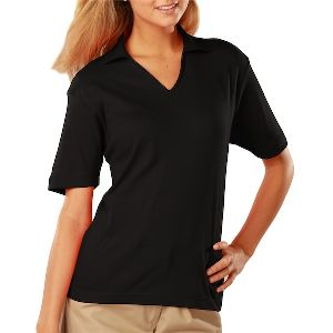 Classic Fit Ladies Pima Interlock Polo - Ladies short sleeve pima polo shirt made from 100% ringspun cotton.