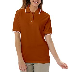 Ladies Tipped Pique Polo - Ladies cotton / polyester tipped collar and cuff short sleeve pique polo shirt.