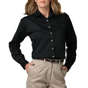 Ladies Long Sleeve Teflon Twill - Ladies long sleeve shirt with soft touch finish.