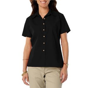 Ladies Short Sleeve Teflon Twill - Ladies short sleeve shirt with soft touch finish.