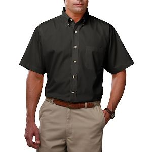 Men'S Short Sleeve Teflon Twill - Men's short sleeve shirt with soft touch finish.