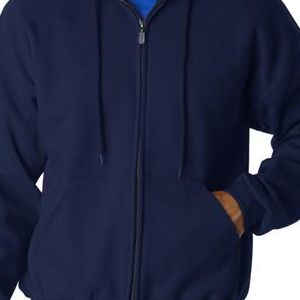 12600 Gildan Adult Gildan DryBlendTM Full-Zip 50/50 Hooded Sweatshirt  - 12600-Navy