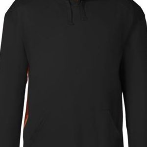 1264 Badger Adult Athletic Fleece Camo Accent Hooded Sweatshirt  - 1264-Black/ Force