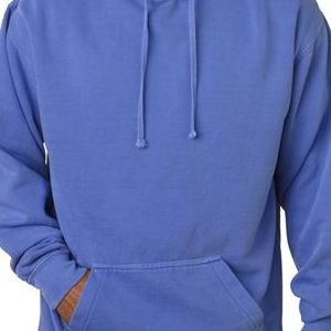 1567 Chouinard Adult Hooded Garment-Dyed Blended Sweatshirt  - 1567-Flo Blue PgmDye