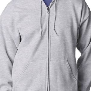 18600 Gildan Adult Heavy BlendTM Full-Zip 50/50 Hooded Sweatshirt  - 18600-Ash (50/50)