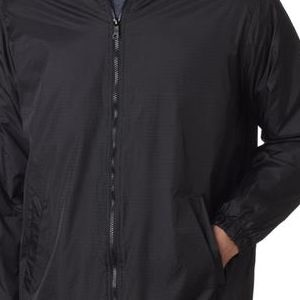 33237 Dickies Adult Fleece-Lined Nylon Rip Stop Jacket  - 33237-Black