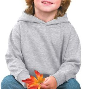3326 Rabbit Skins Toddler Hooded Blended Sweatshirt with Pockets  - 3326-Ash (99/1)