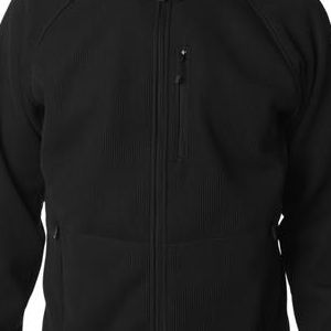 3410 Storm Creek Men's IronWeave Full Zip Fleece  - 3410-Black