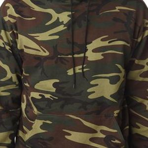 3969 Code V Adult Camouflage Pullover Hooded Blended Print Fleece Sweatshirt  - 3969-Green Woodland