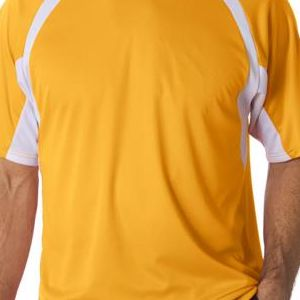 4144 Badger Adult B-Core Short-Sleeve Two-Tone Hook Tee