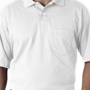 436 Jerzees Adult Jersey 50/50 Pocket Polo with SpotShield®  - 436-White