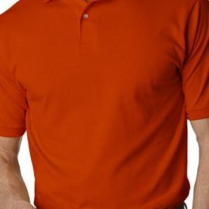 437 Jerzees Adult 50/50 Jersey Polo with SpotShield®  - 437-Burnt Orange