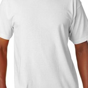 5100 Bayside Adult Short-Sleeve Cotton Tee  - 5100-White