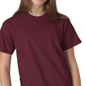 5380 Hanes Youth Short-Sleeve Beefy-T® Cotton Tee  - 5380-Maroon