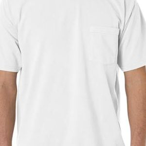 6030 Chouinard Adult Heavyweight Short-Sleeve Garment-Dyed Pocket Tee  - 6030-White DirDye