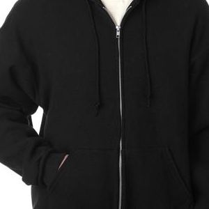 82230 Fruit of the Loom Adult SupercottonTM Full-Zip Hooded Sweatshirt  - 82230-Black