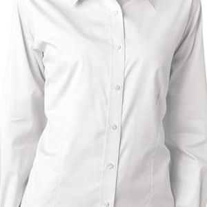 8381 UltraClub® Ladies' Non-Iron Cotton Pinpoint Woven Shirt  - 8381-White