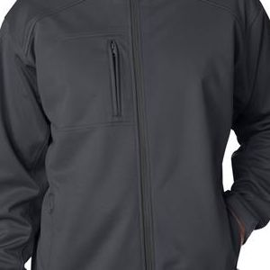 8477 UltraClub® Adult Blend Soft Shell Solid Jacket  - 8477-Grey