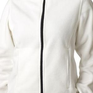 8481 UltraClub® Polyester Ladies' Iceberg Fleece Full-Zip Jacket  - 8481-Winter White