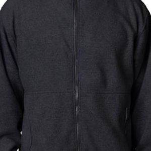 8485 UltraClub® Polyester Adult Iceberg Fleece Full-Zip Jacket  - 8485-Black