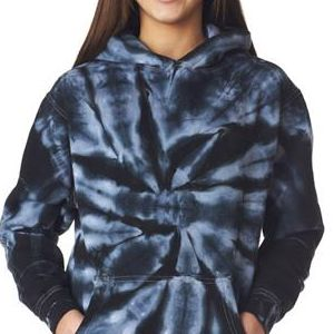 854B Gildan Tie-Dye Youth Pinwheel Hooded Sweatshirt