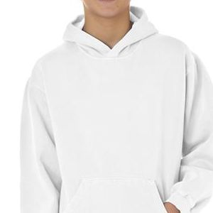 8755 Chouinard Youth Hooded Sweatshirt  - 8755-White DirDye