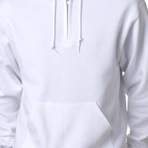 994 Jerzees Adult NuBlend® 50/50 Quarter-Zip Hooded Sweatshirt  - 994-White