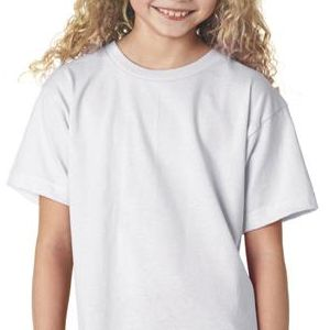 B4100 Bayside Youth Short-Sleeve Cotton Tee  - B4100-White
