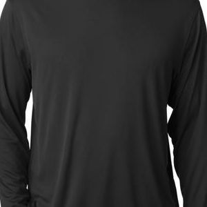 CW26 Champion Adult Double Dry® Long-Sleeve Interlock Polyester T-Shirt  - CW26-Black