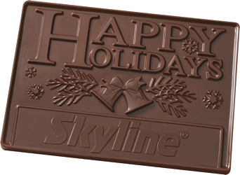 2 lb Chocolate Bar - Our 2 pound 3D bar makes a stunning gift.