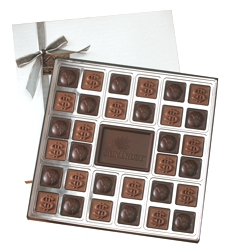 Double Layer Custom Chocolate Squares Gift Box