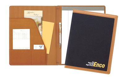 Edge Embroidered Folder - Made in USA Union Bug Available