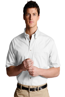 MEN'S EASY CARE SHORT SLEEVE POPLIN SHIRT