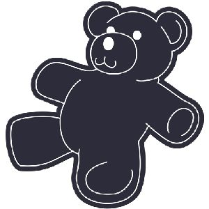 Teddy Bear Flexible Magnet - Made of flexible 30 mil permanent magnet to adhere to any steel surface