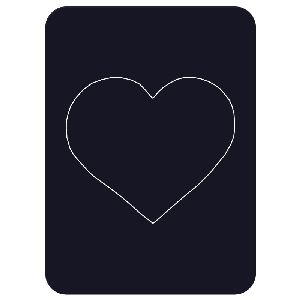 Heart Photo Magnet - Removable center fits a wallet-size photo