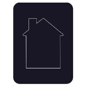 House Photo Magnet - Removable center fits a wallet-size photo