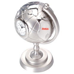 Die Cast Globe and Stand Clock