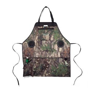 Grill and Groove Camo Apron with Speakers -